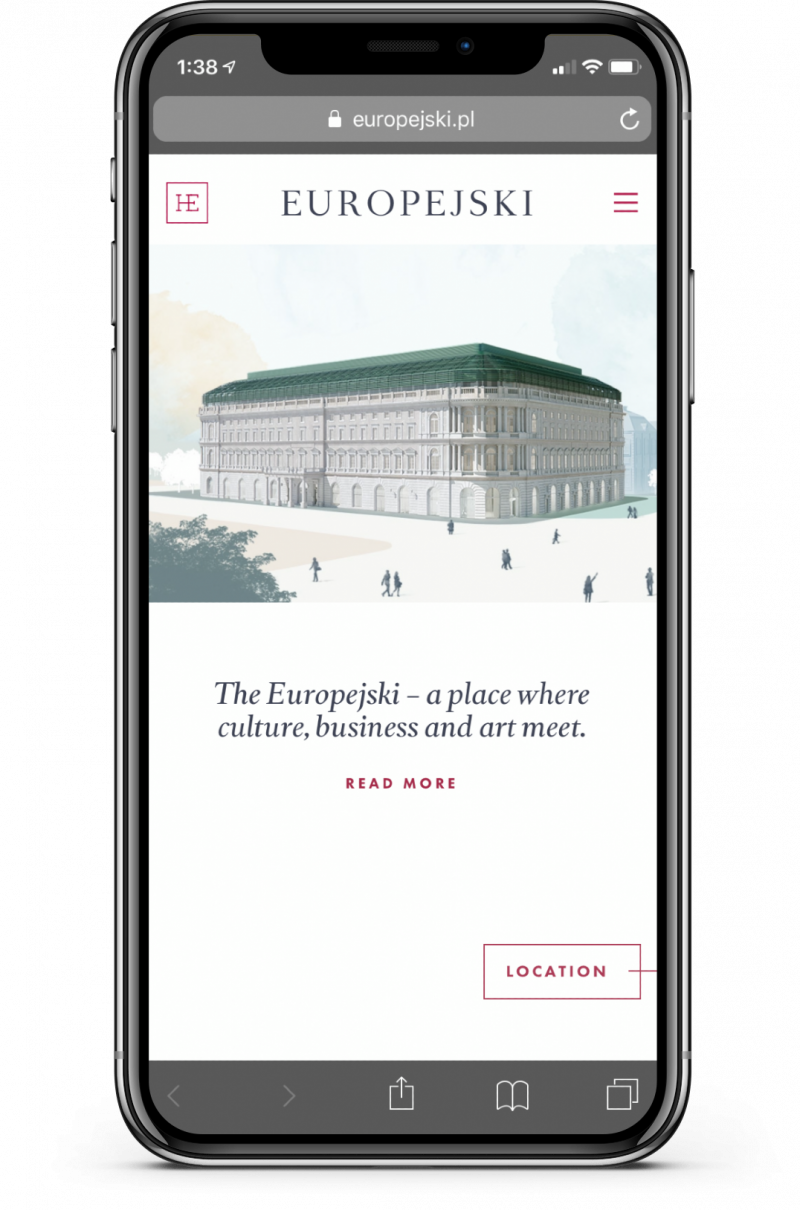 Mobile screenshot of Europejski site