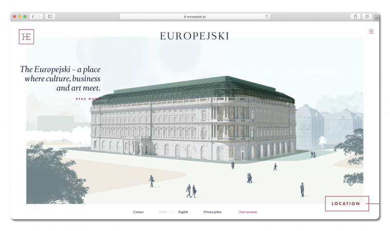 Screenshot of the Europejski site