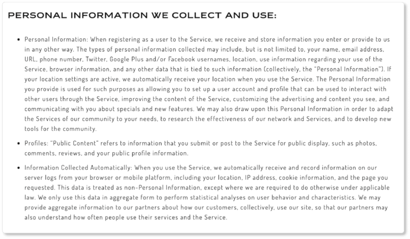 Carbon38 personal data privacy policy