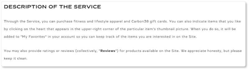 Carbon38 Terms & Conditions