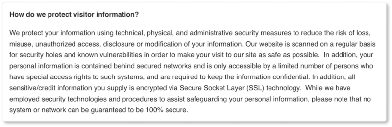 Equator privacy policy data security