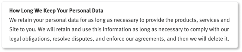 Herman Miller privacy policy data storage