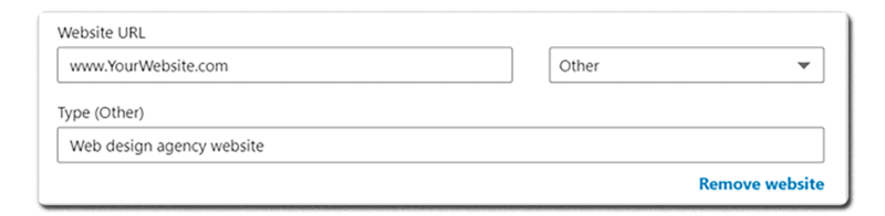Screenshot of the forms to fill out for a LinkedIn page