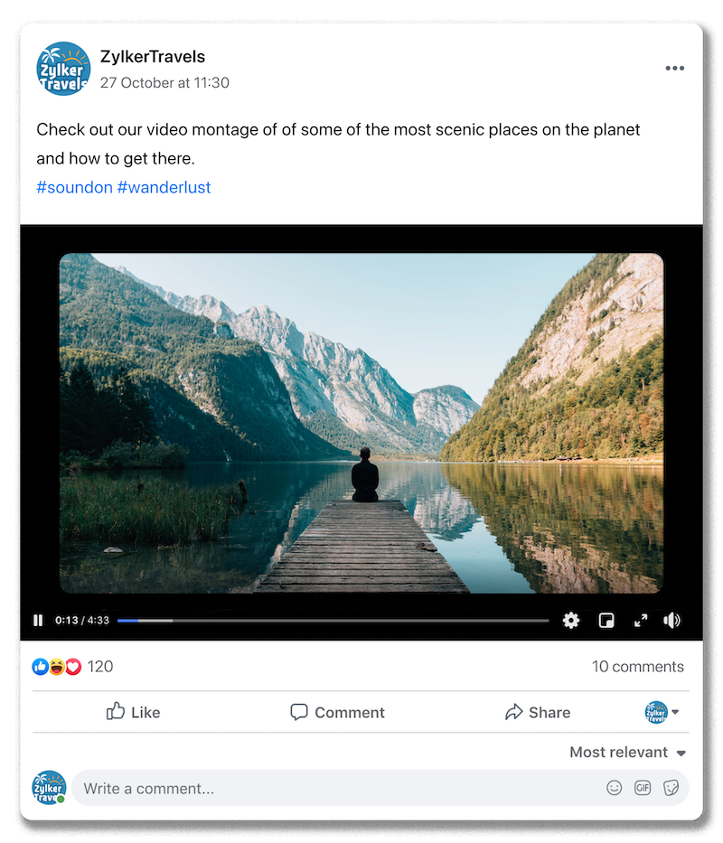Screenshot of a Facebook post with a video attached