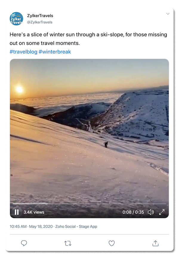 Example tweet with a video attached